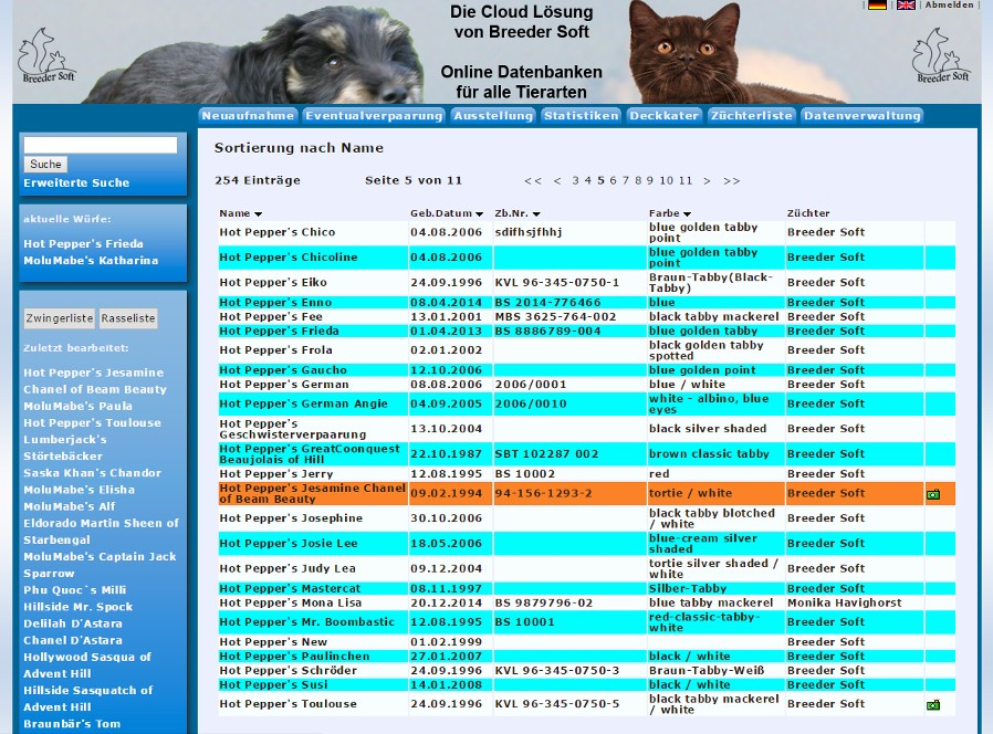 CattleCloud von Breeder Soft
